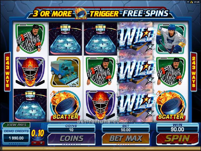 Играть в Casino-X на спортивном игровом слоте Break Away