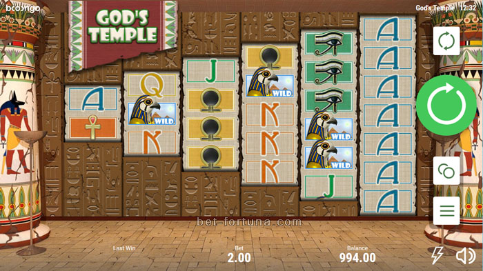 автомат gods temple в casino x