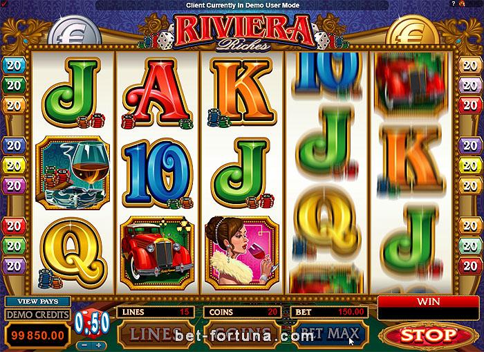 автомат Riviera Riches играть бесплатно на сайте Casino-X com