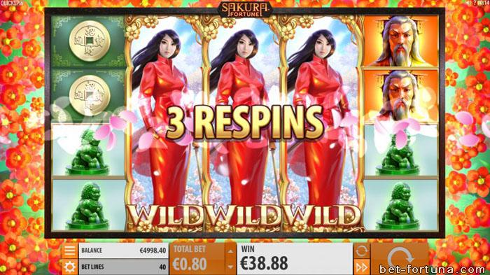 sakura fortune слот в casinox