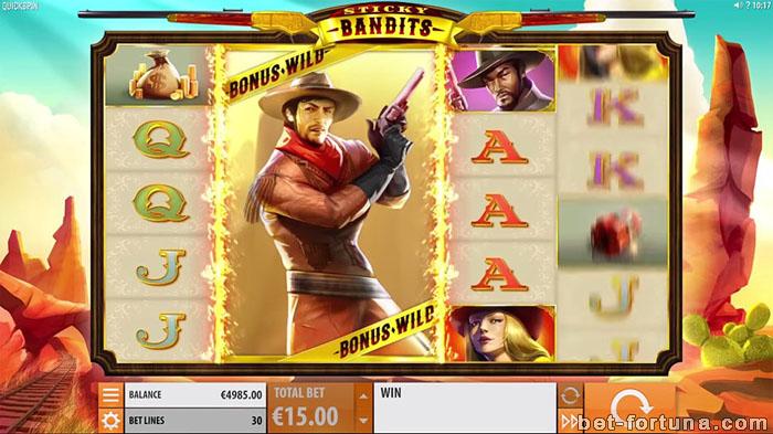 бонусы в автомате Sticky Bandits на сайте Casino X