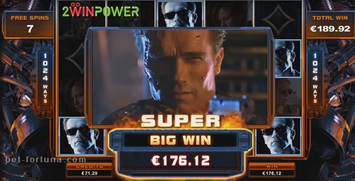 крупный выигрыш на автомате Terminator 2 на сайте Казино Икс